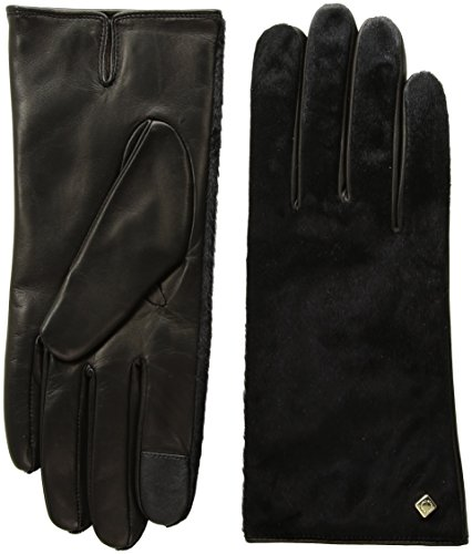 Cole Haan Women's Haircalf Back Glove, black, MEDIUM by Cole Haan