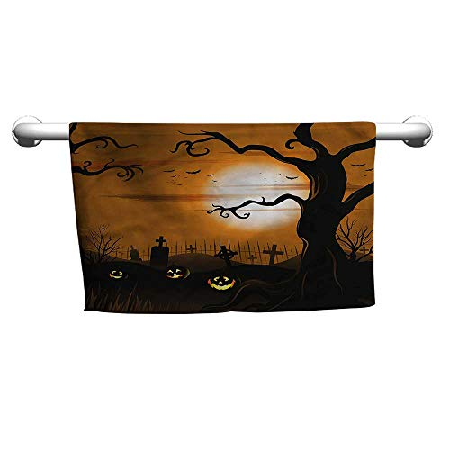 alisoso Halloween,Wash Towels Scary Cemetery W 10