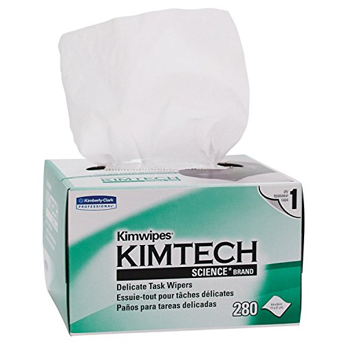 Kimtech Science KimWipes Delicate Task Wipers; 4.4 x 8.4 in. (11.2 x 21.3cm); 1-ply 280 count by Kimberly-Clark Professional (Image #1)