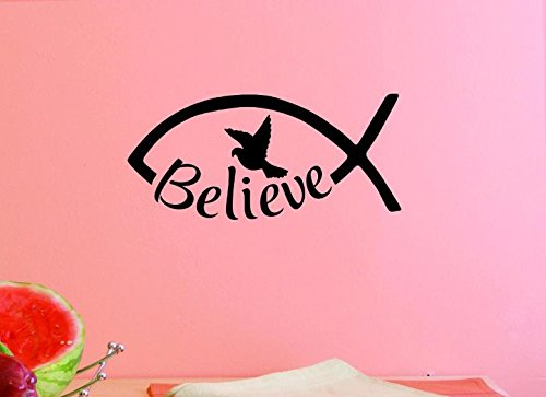 Black 14 x 28 14 Inches X 28 Inches Color Design with Vinyl US V JER 3220 2 Top Selling Decals Believe Wall Art Size