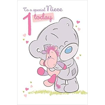 Me To You Special Niece 1 Today 1st Birthday Card