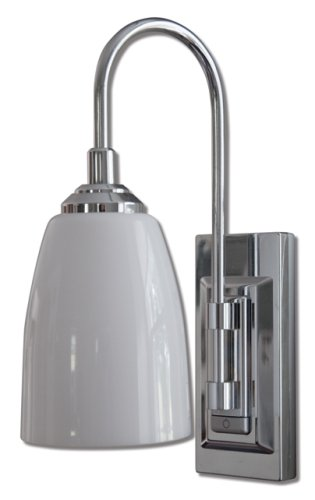 Rite Lite Battery-Operated 9-LED Classic Chrome Wall Sconce