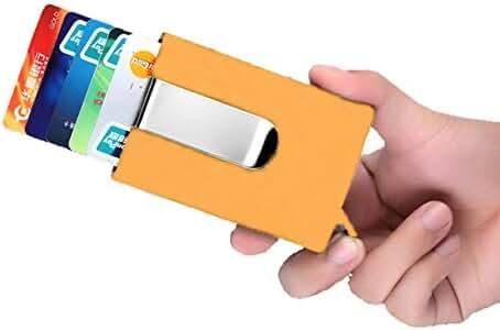 Automatic Sliding Credit Card Holder Case Stainless Steel Slim Money Clip Business Card Holder Wallet