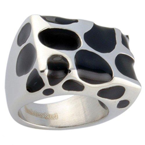 Alimab Jewelery Mens Womens Rings Stainless Steel Mushroom Black