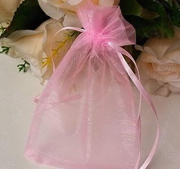 Amazon.com: huaha 100pcs Sheer Organza Jewelry bolsas boda ...