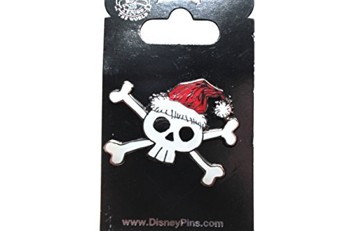 Disney's Holiday Skull and Crossbones Pin - Pin Crossbones