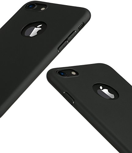 iPhone 7 Case and a Phone Holder, HZ BIGTREE [0.5mm] Ultra Thin Light Weight Slim Fit Full Protective Anti-Scratch Resistant Soft Touch Flexible TPU Case for Apple iPhone 7 4.7 inch [matte black]