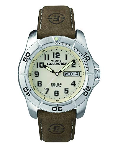 (Timex Men's T46681 Expedition Traditional Brown Leather Strap Watch)