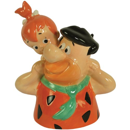 Westland Giftware The Flintstone's Piggy Back Pebbles Ceramic Bank, 7-3/4-Inch