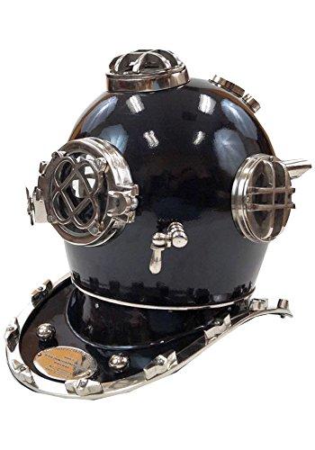 Divers Helmet Costume (Aluminum Divers Helmet Black, Mark Five - Armour Costume)