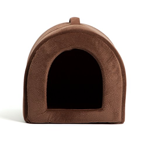 Best-Friends-by-Sheri-Pet-Igloo-Hut-Sherpa-Ilan-Lux-Cat-and-Small-Dog-Bed-Offers-Privacy-and-Warmth-for-Better-Sleep-Waterproof-Dirt-Resistant-Bottom-Washer-and-Dryer-Safe-17x13x12-For-Pets-9lbs-or-Le