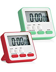 SK Depot™ 24-Hours Digital Kitchen Timer, 12-Hour Clock, Upgraded Large Display, Loud Alarm, Magnetic Backing Stand, ON/OFF Switch, Memory Recall Function, Count-Up & Count Down Timers for Cooking Baking Sports Games Office, Kids Teachers Classroom Timer