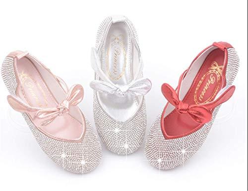 YOGLY Sandales Ceremonie Fille Chaussures Talon Enfant Ballerine Princesse Soft-Soled Chaussures Strass Anti-d/érapant