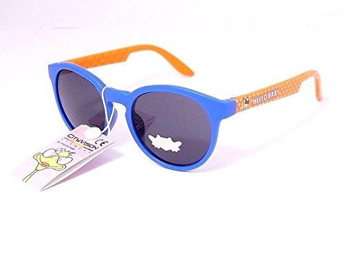 lunettes de soleil enfant garçon fille 6 7 8 ans 78046 monture bleu