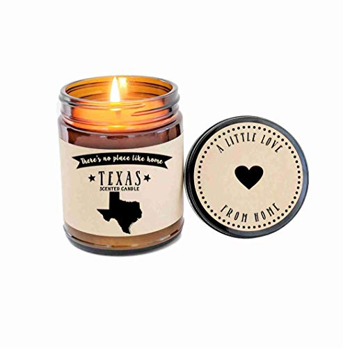 - Texas Scented Candle Missing Home Homesick Gift Moving Gift New Home Gift No Place Like Home State Candle Thinking of You Valentines Day Gift