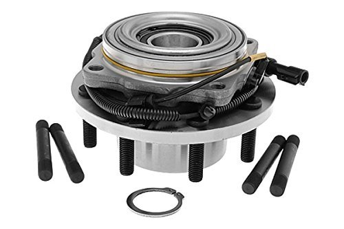 Detroit Axle - Brand New Front Wheel Hub and Bearing Assembly Ford F-250 F350 Super Duty 4x4 8 Bolt W/ ABS [DUAL REAR WHEEL]