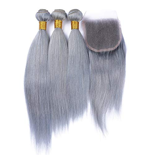 Anmer-Fashion-Grey-Brazilian-Virgin-Hair-Weave-Lace-Closure-With-Bundles-Straight-Human-Hair-Extensions-Silver-Gray-Hair-With-Closure-12-with-14-16-18
