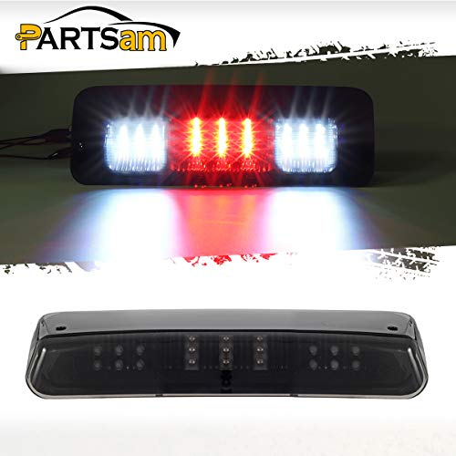 Partsam High Mount Stop Lights Third 3rd Brake Lights Replacement for Ford F150 F-150 04-08 2004 2005 2006 2007 2008 Smoked LED Rear Cab Roof Center Mount Brake Stop Tail Cargo Light Lamp (Rear Cab Mount)