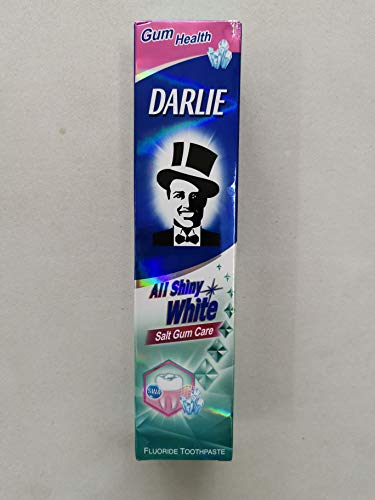 DARLIE Toothpaste All Shiny White Salt Gum Care 140g -Contains Fluoride That Fights Cavities and Protects Teeth