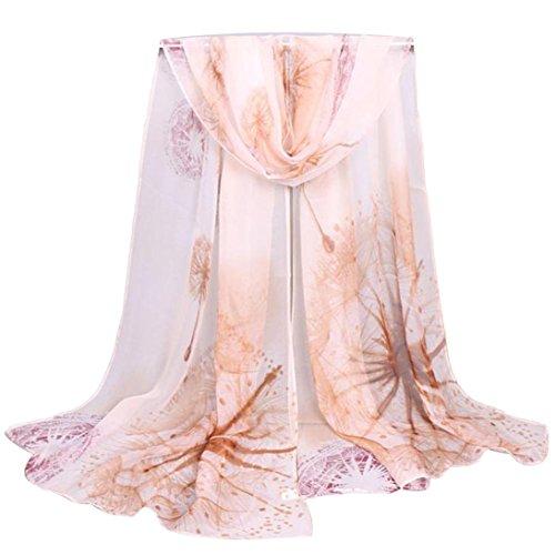 Oksale Women Ladies Long Soft Dandelion Georgette Scarf Scarve Wrap Shawl (Coffee)