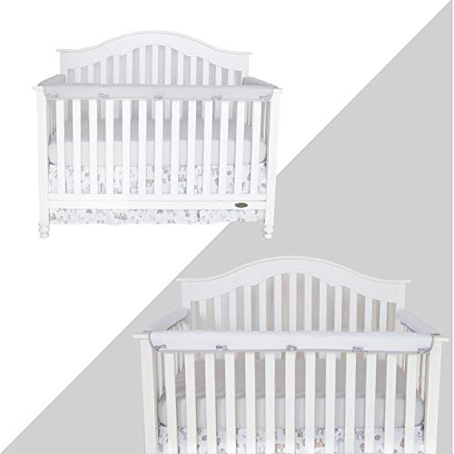 Tillyou 3 Piece Padded Baby Crib Rail Cover Protector Set