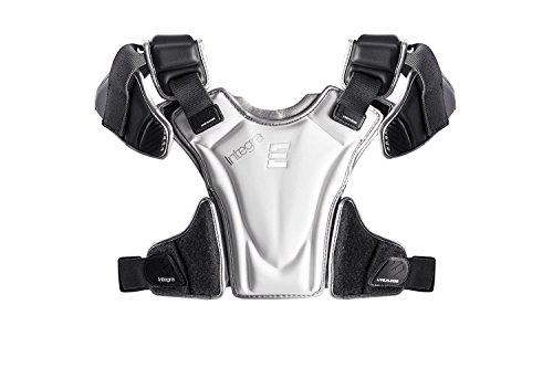 Epoch Lacrosse Integra High Performance Lightweight Lacrosse Shoulder Pad with Phase Change Technology, Compression Molded, AED Quick Release ,GREY,Medium