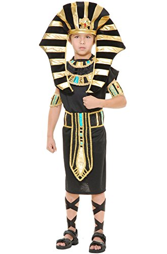 [Mememall Fashion Ancient Egyptian King Tut Boy Outfit Child Costume] (Adult Egyptian Prince Costumes)