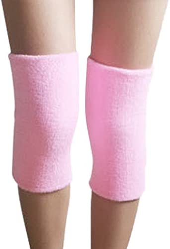 ACME Damen Kniebandage Kniewärmer Knieschützer elastisch,25 x 12cm,2er Set,Rosa