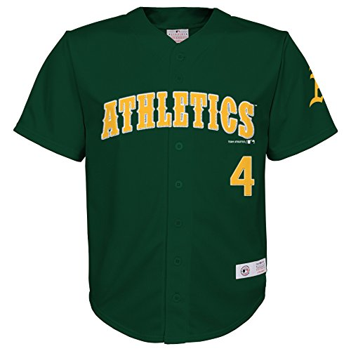 MLB Oakland Athletics Boys Player Fashion Jersey, Dark Green Crisp, 12/14
