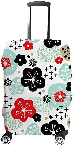 スーツケースカバー 伸縮素材 トラベルダストカバー キャリーカバー 紛失防止 汚れや傷防止 お荷物保護 トラベルダストカバー 着脱簡単 通気性 海外旅行 出張用 便利グッズ 男女兼用 抽象的な桜