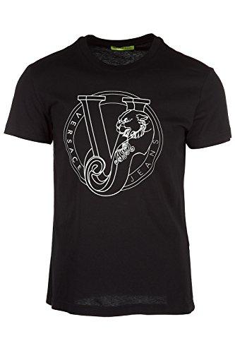 Versace B3GRB75K Jeans Jersey Pluto Slim Fit Black T-Shirt M (Versace Jersey T-shirt)