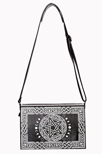 à nugoth celtique witchy pentagramme main symboles lunes livre noir occultes Sac et Upw7q1d7x