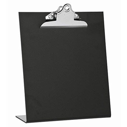 Sign Holder with Clip Black Easel Style for 8.5 x 11 Signs