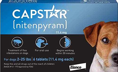 Capstar Fast-Acting Oral Flea Treatment for Dogs (Comfortis Flea Medication)