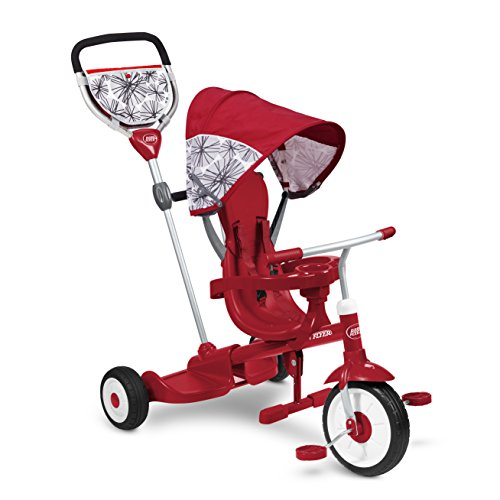 Radio Flyer Deluxe Ride & Stand Stroll 'N Trike - Radio Flyer Ultimate Canopy