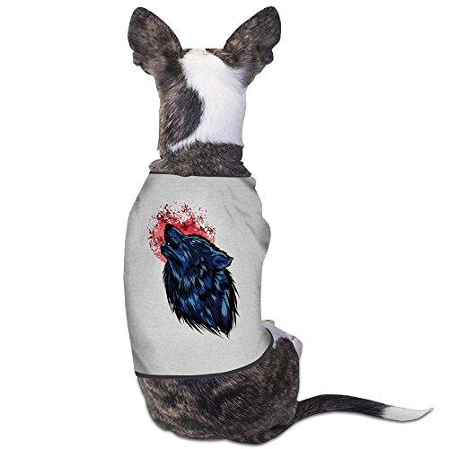 [Pet Supplies Cute Crimson Moon Wolf Best Dog Clothes] (Dark Souls Black Knight Costume)