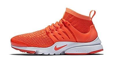 Women Nike Air Presto Flyknit Ultra Orange Green White Shoes