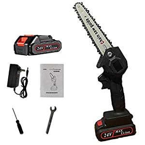 Mini 6 inch electric chain saw cordless chainsaw felling tree felling household small handheld portable lithium electric…