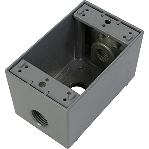 Greenfield DB23PS Series Weatherproof Electrical Outlet Box, Gray