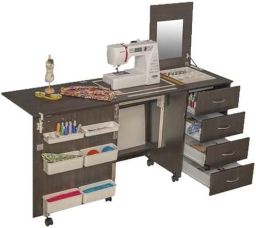 Comodidad 2 | máquina de coser armario Hobby Craft mesa | Premium White: Amazon.es: Hogar
