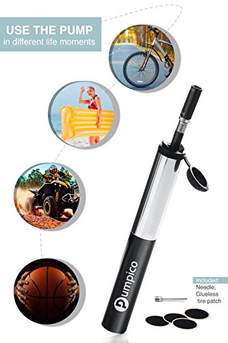 PUMPICO Bike Pump - Mini Bike Pump - Bicycle Pump - Presta And Schrader Valve Pump - Functional and Sturdy Aluminum Alloy Body and Ergonomical Handle with Smarthead Nozzle – Pressure Up to 140 PSI by PUMPICO (Image #6)