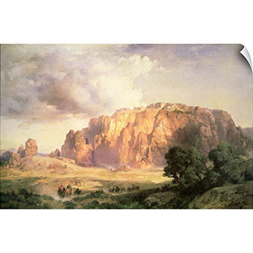 CANVAS ON DEMAND Thomas (1837-1926) Moran Wall Peel Wall Art Print Entitled The Pueblo of Acoma, New Mexico 18