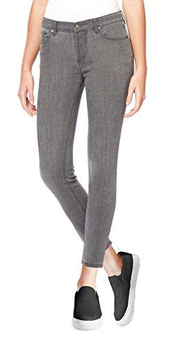 Buffalo David Bitton Women's Mid-Rise Super Soft Capri Jeans (10/30, Grey ()