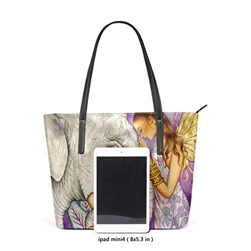 Tracolla PU e in le donne Bag medio muticolour per Art pelle Tote Borsa COOSUN Elephant Borsa Borse wXAdTnqX85