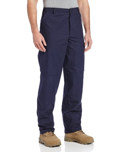 TRU-SPEC Men's Rip Stop BDU Pant - Medium Short - Navy