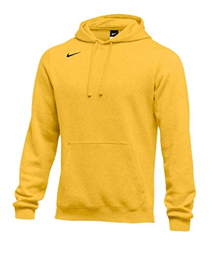 Nike Men's Pullover Fleece Club Hoodie (Large, Bright Gold) (Terry Nike Pullover)