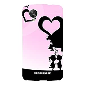 HomeSoGood Breathing Love On Valentine's Day Pink For LG Nexus 5 (Back Cover)