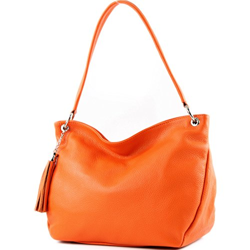Bandoulière Orange sac En Ital Cuir T154 De Modamoda À Épaule RzcWUz41
