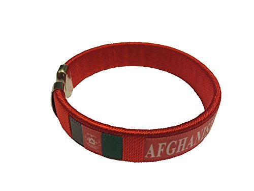 Flag C Bracelets Wristbands – Asia & Africa (Country: (Afghanistan Country Flag)