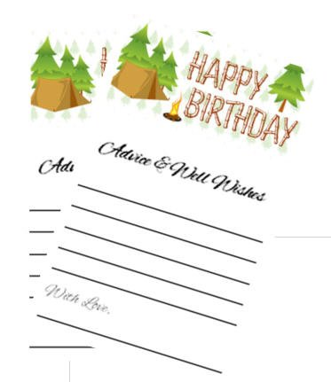 Camping Christmas Cards.Advice And Well Wishes Party Advice Cards Pack Of 40 Camping Wishes